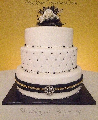 First wedding cake by Renee Hutchinson of Sweet Obsession Cakes