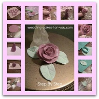 Fondant Flowers Rose Step-by-Step