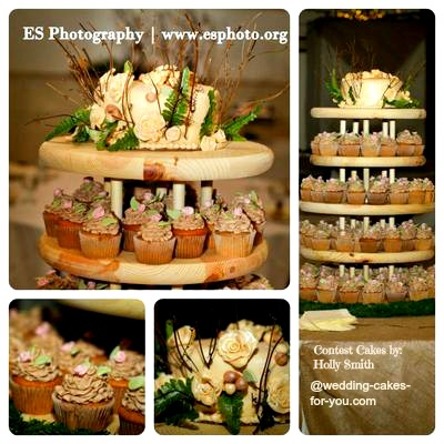 elegant wedding cake display
