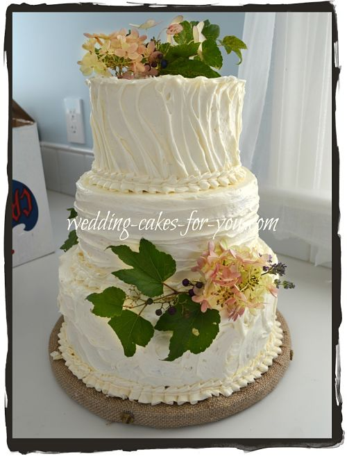 Rustic Wedding Cake Close Up
