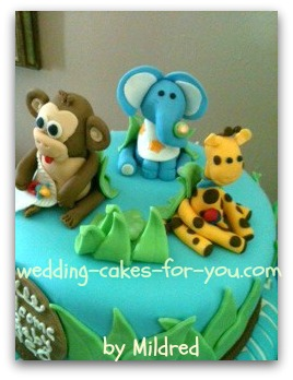 safari cake for baby