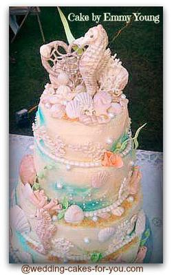 sea shell wedding cakes seashell wedding cake 19712