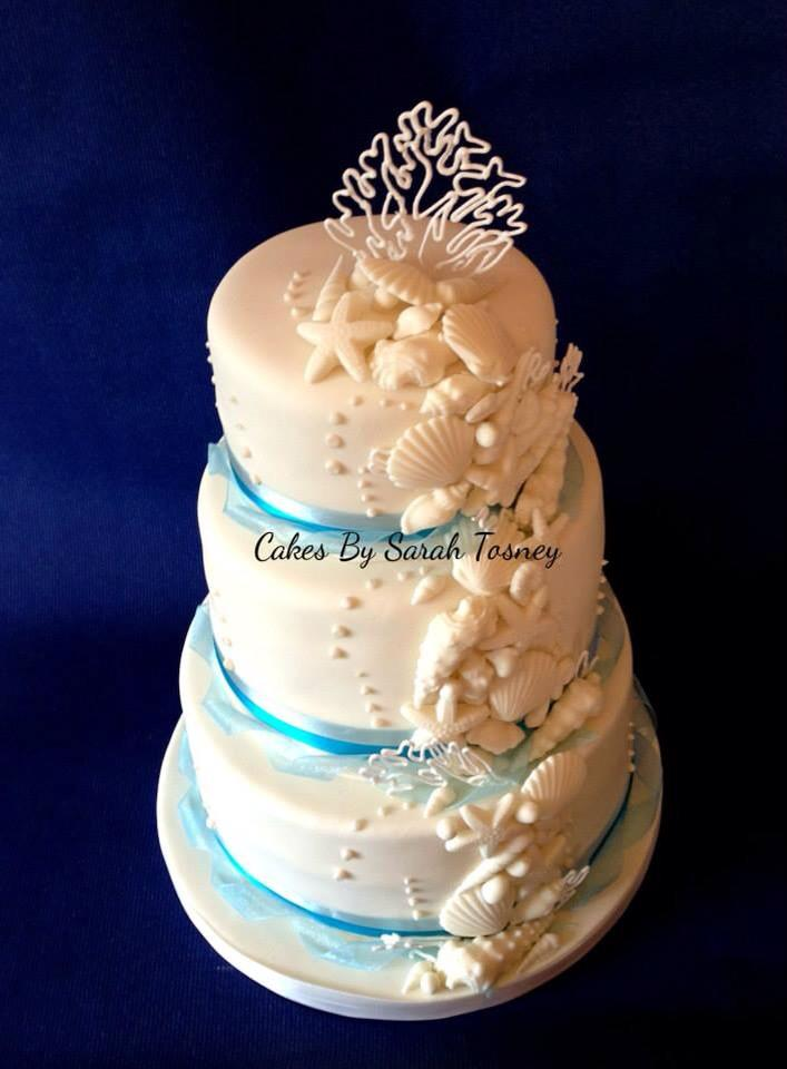 A seashell wedding cake by Sarah Tosney
