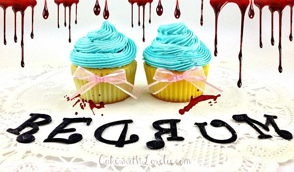 Halloween cupcakes from the shining movie theme