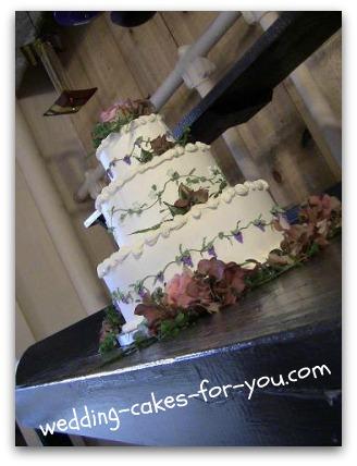 wine themed wedding cake