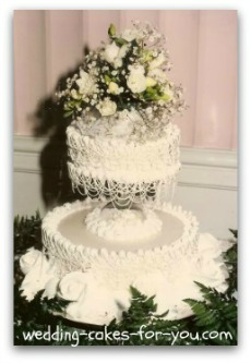 Small wedding cakes but big on flavor and design small vintage 1950 wedding cake junglespirit Images