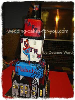 Swell Spiderman Birthday Cake Birthday Cards Printable Opercafe Filternl