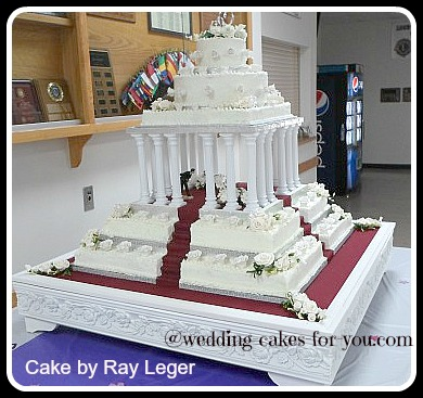 square wedding cake surprise