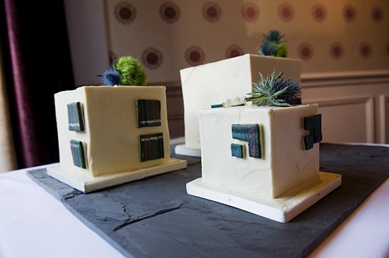 Tartan Cube Cake by Butterflies & Angels