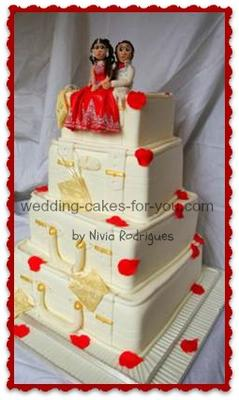 suitcase wedding cake