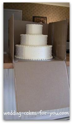 Box the cake