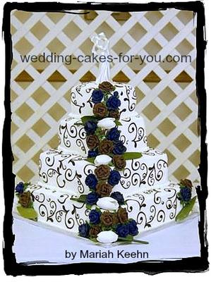 tulip wedding cake design