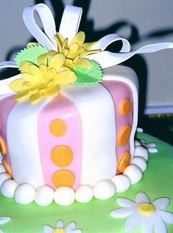 A one of a kind fondant design by your cake decorator