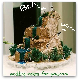 mountain climbers cake for a groom