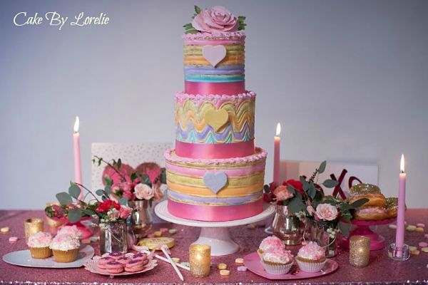 Valentine Cake Table