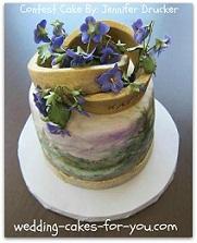 Unique fondant cake design
