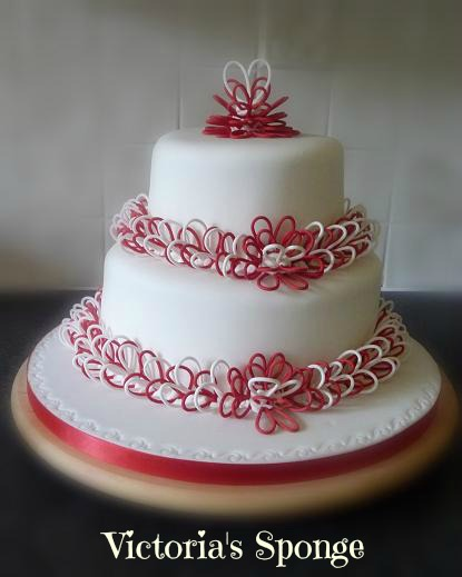 Frosting Designs For Cakes. anniversary cake design.