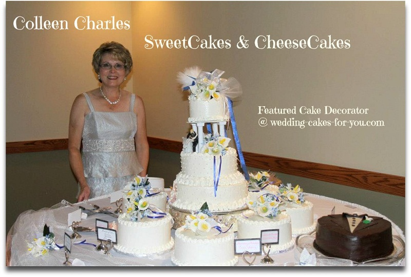 Cake Decorator Collen Charles with her daughter's wedding cake