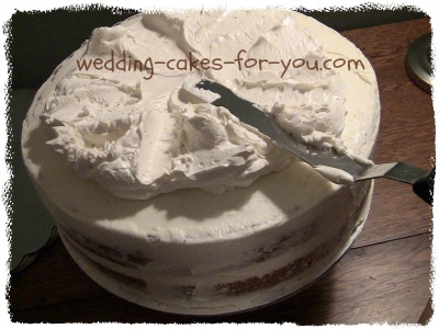 how to ice a wedding cake without marzipan butter frosting 15749