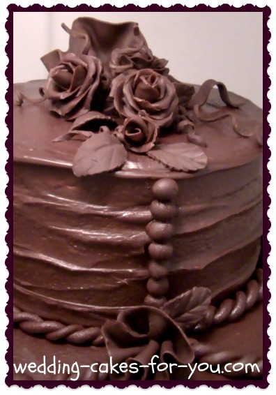 how to make a chocolate wedding cake chocolate ganache icing using the best ghirardelli chocolate 15798