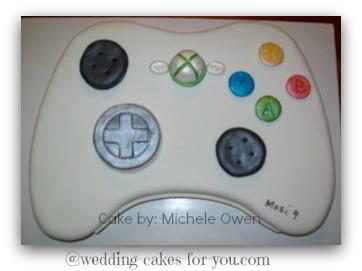 X Box Video Controller Cake