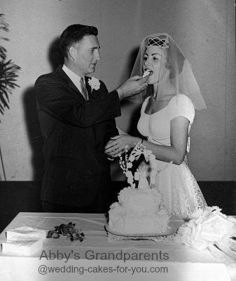 The original wedding cake and my younger Grandparents