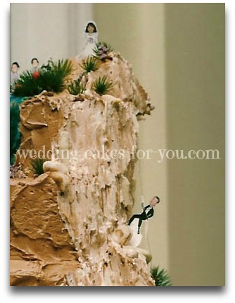 mountain climibing cake for the groom