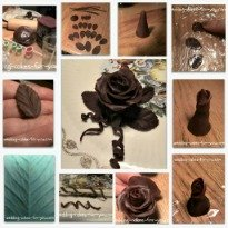Chocolate Modelling Rose Step-by-Step Clickable Link