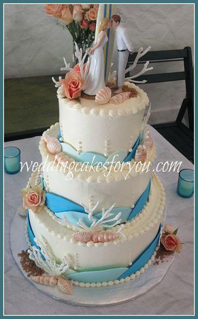Elegant Seashell Wedding Cake