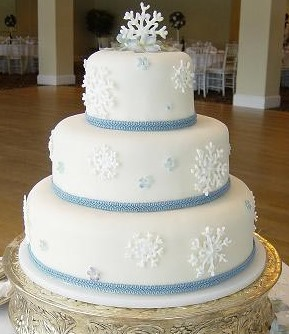 An example of ribbon around a fondant cake.