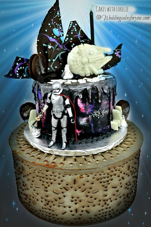 star wars cake with captain phasma