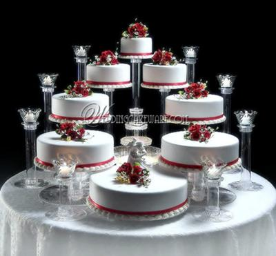 How the cake will be set up at the wedding