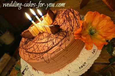 A delicious chocolate orange cake