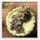 buttercream pine cone decoration