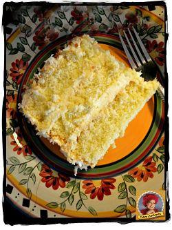 A delicious slice of coconut cake