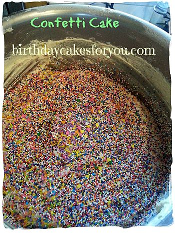 Batter For Confetti Cake