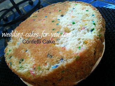 A Confetti Cake Layer
