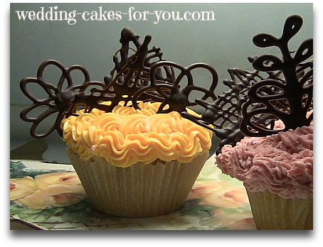 cupcakes with chocolate decorations
