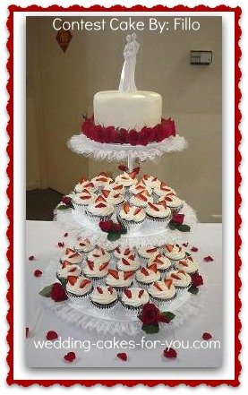 a cupcake wedding cake