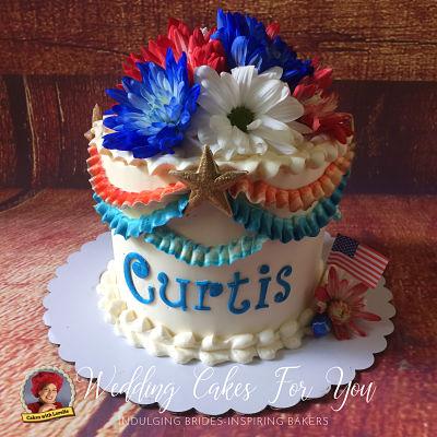 Patriotic cake design