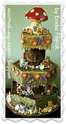 Woodland Fairy /Sprite Wedding Cake