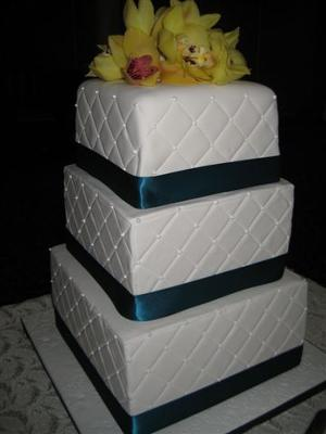 First wedding cake...feel like I have graduated!! LOL!!!