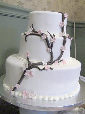 Cherry Blossoms in Fondant