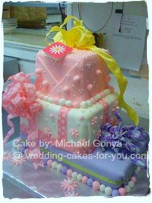 A Birthday Present Fondant Cake by Michael Gonya