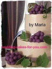 Cascading Fondant Grapes