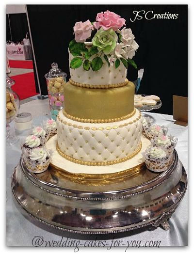 Golden Wedding Cake By JS Creations