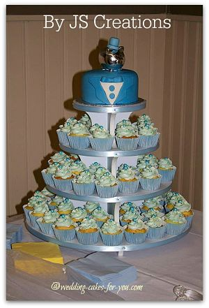Grooms Cake Cupcake Tower by JS Creations