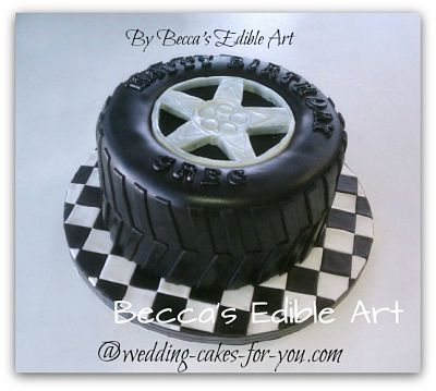 Fondant Tire Cake by Becca's Edible Art