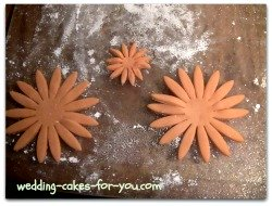 Large and small gumpaste Daisies