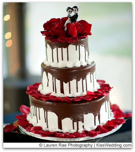 chocolate halloween wedding cake